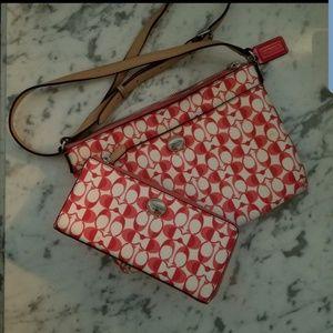 Coach crossbody purse and wallet
